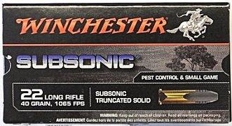 Náboj Winchester .22 Subsonic  50 ks