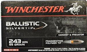 Náboj Winchester 243 Win. Ballistic Silvertip 3,56g 20 ks