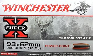 Náboj Winchester 9,3x62 Power Point 18,5g 20ks