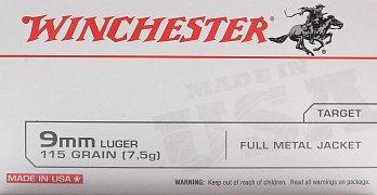 Náboj Winchester 9mm LUGER 50ks