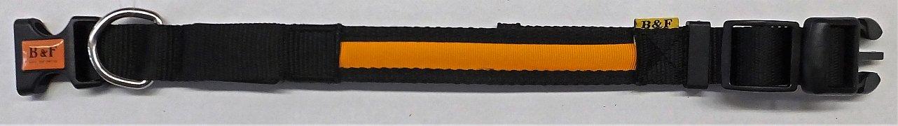 Obojek B&F svítící 06110 oranžový 36-45cm