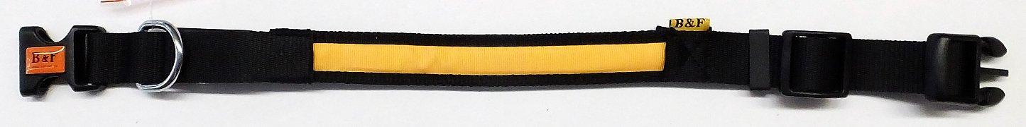 Obojek B&F svítící 06111 oranžový 41-54cm