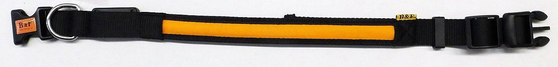 Obojek B&F svítící 06112 oranžový 45-63cm