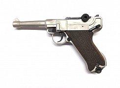 Plynová pistole CUNO MELCHER Parabellum Luger P08 nikl r. 9mm P.A.