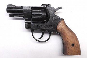 Plynový revolver BRUNI OLYMPIC dřevo cal. 6mm - 2