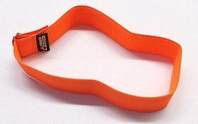 Reflexní obojek se sponou bez reflexního pruhu oranžový