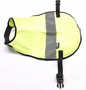 Reflexní vesta pro psy s reflexním pruhem vel. XL žlutá