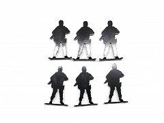Terč RAVEN kovoví vojáci 6ks