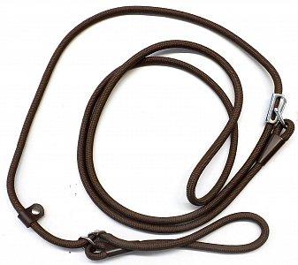 Vodítko B&F zkracovací lano 15792 hnědé - 1