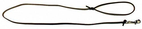 Vodítko kožené  Zubíček z kulaté kůže 130 cm o průměru 0,6 cm