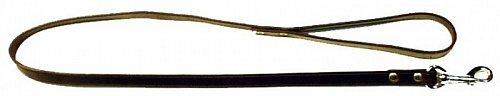 Vodítko kožené Zubíček z ploché kůže 130 cm o šíři 1 cm