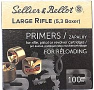 Zápalky S&B 5,3 LR Boxer 100 ks
